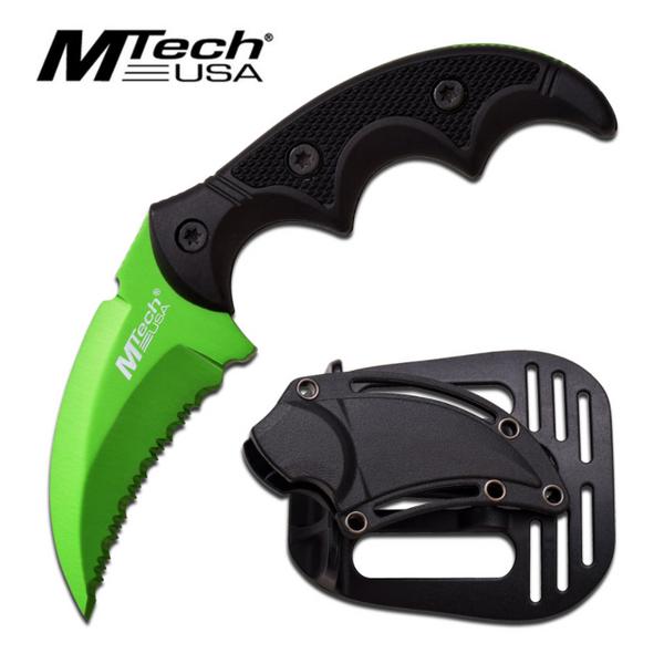 Bilde av MTech - Taktisk Karambitstyle Kniv med Slire - Grønn