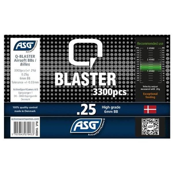 Bilde av Q-Blaster Softgunkuler - 0.25g 3300stk