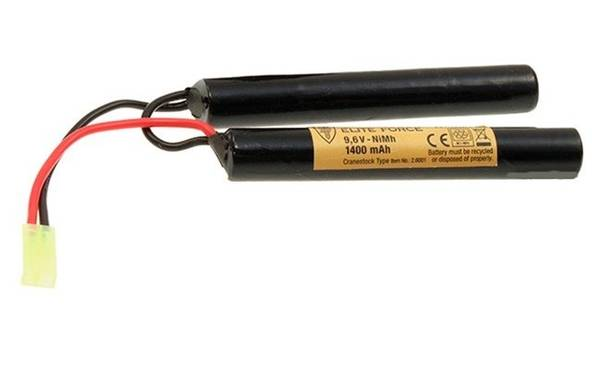 Bilde av Batteri 9.6V 1400mah (Cranestock), Liten Plugg