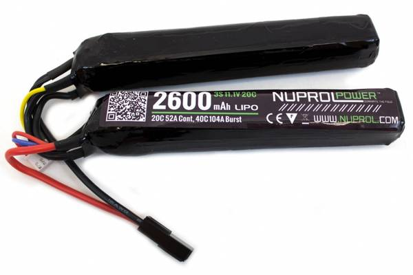 Bilde av NP Li-Po Batteri - 11.1V 2600mAh - Twin Stick Cranestock
