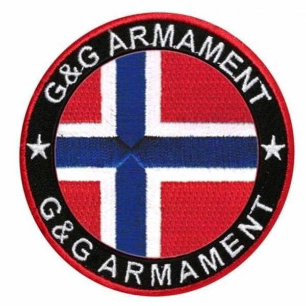 Bilde av G&G Patch - Brodert Norsk Flagg