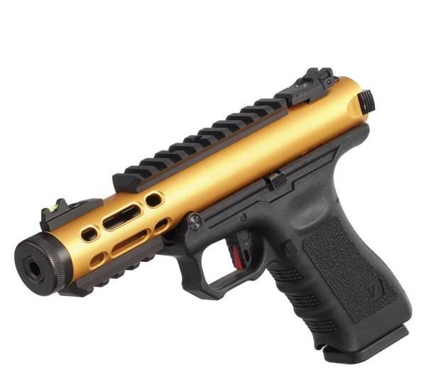 Bilde av WE - Galaxy Gassdrevet Softgun Pistol GBB - Gull