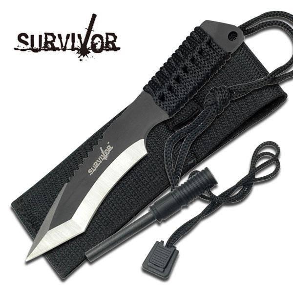 Bilde av Survivor - Taktisk Overlevelseskniv med Tanto Blad og Slire