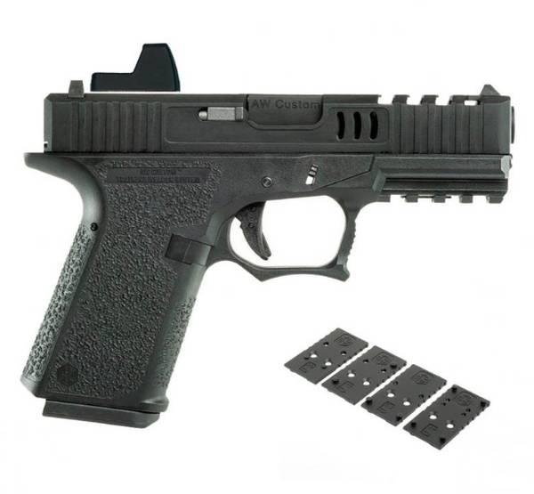 Bilde av AWCustom - VX9 Mod2 Precut Gassdrevet Softgun Pistol - Svart
