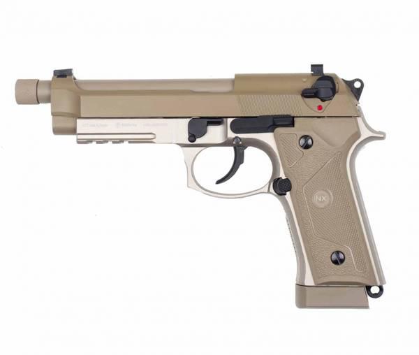 Bilde av NXW - M92 Elite Desert 4.5mm Co2 Drevet Luftpistol - Tan
