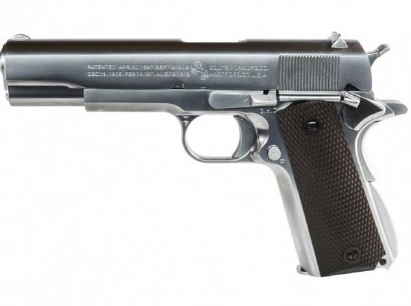 Bilde av Colt 1911 - Full Metall Softgun Pistol CO2 - Sølv