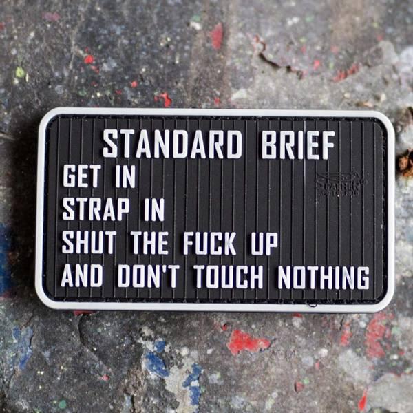 Bilde av Patch - Standard Brief Rubber - Svart/Grå