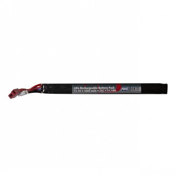 Bilde av ASG Batteri LIPO - 11.1V 1000 mAh Stick 25C T-plug