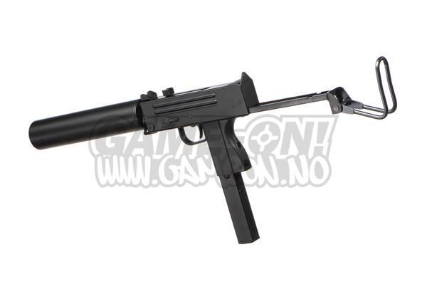 Bilde av HFC - M11 SMG Gassdrevet Softgun Pistol med Blowback - Svart